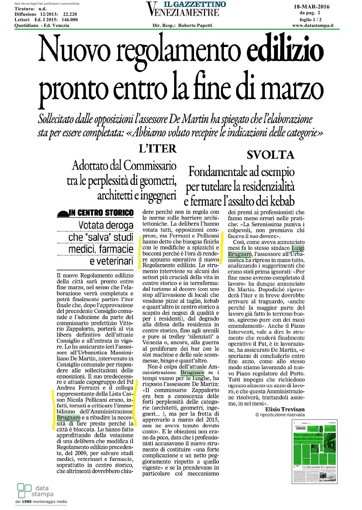 18 marzo 2016 rassegna stampa nicola pellicani for Camera dei deputati rassegna stampa pdf