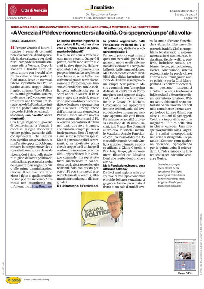 Rassegna stampa il manifesto nicola pellicani for Camera deputati rassegna stampa