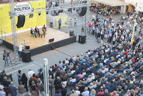 Festival della Politica-Dibattito tra Ezio Mauro, Renzo Guolo e Massimo Cacciari a Mestre in Piazza Ferretto